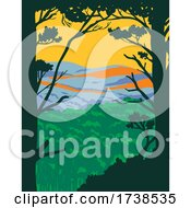 Ouachita Mountains Or Ouachitas In Arkansas And Oklahoma Within The Hot Springs National Park WPA Poster Art