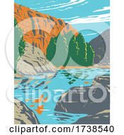 Agua Fria National Monument Centered On Agua Fria River Canyon In Arizona WPA Poster Art