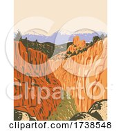Browns Canyon National Monument With Canyons And Forests In Arkansas River Valley And The Sawatch Range In Chaffee County Colorado WPA Poster Art