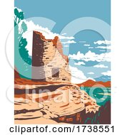 Painted Hand Pueblo In Canyon Of The Ancients National Monument In Southwest Colorado Wpa Poster Art