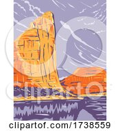 Dinosaur National Monument On The Uinta Mountains Between Colorado And Utah WPA Poster Art