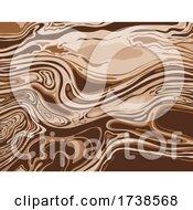 Alabaster And Bistre Brown Inkscape Suminagashi Kintsugi Japanese Ink Marbling Paper Abstract Art