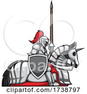 Poster, Art Print Of Knight On A Steed