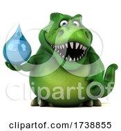 3d Tyrannosaurus Rex Dinosaur On A White Background