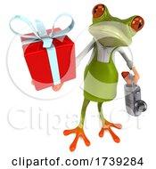 3d Green Springer Frog Gardener, on a White Background by Julos #COLLC1739284-0108