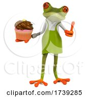 3d Green Springer Frog Gardener, on a White Background by Julos #COLLC1739285-0108
