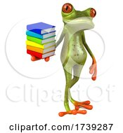 3d Green Frog, on a White Background by Julos #COLLC1739287-0108