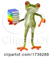 3d Green Frog, on a White Background by Julos #COLLC1739288-0108