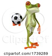 3d Green Frog, on a White Background by Julos #COLLC1739289-0108