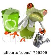 3d Green Springer Frog Gardener, on a White Background by Julos #COLLC1739309-0108