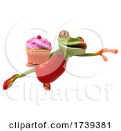 3d Female Frog, on a White Background by Julos #COLLC1739381-0108