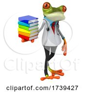 05/18/2021 - 3d Green Doctor Frog On A White Background