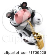 3d Holstein Cow On A White Background