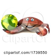 3d Crab On A White Background