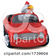 Poster, Art Print Of 3d White Chicken On A White Background