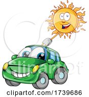 Poster, Art Print Of Happy Sun Charging A Car