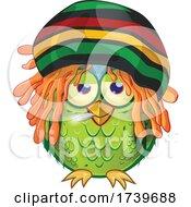 Jamaican Rasta Owl Smoking A Doobie by Domenico Condello