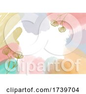 Abstract Background With Handpainted Watercolour Elements
