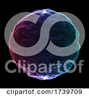 Poster, Art Print Of Abstract Sphere Of Particles