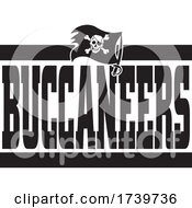Jolly Roger Flag And BUCCANEERS Team Text
