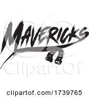 Horseshoe And MAVERICKS Text In Brush Style