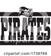 Jolly Roger Flag And PIRATES Team Text