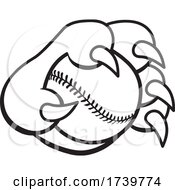 Paw Grabbing A Baseball