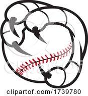 Bird Mascot Talons Grabbing A Baseball