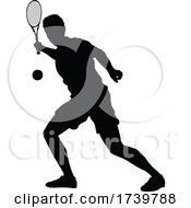 03/13/2021 - Tennis Player Man Sports Person Silhouette