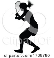 03/13/2021 - Tennis Player Woman Sports Person Silhouette