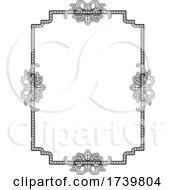 03/13/2021 - Frame Border Art Vintage Deco Style Illustration