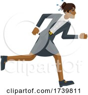 Poster, Art Print Of Business Woman Stress Tired Running Race Concept