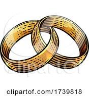 Wedding Ring Bands Vintage Woodcut Illustration