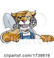Wildcat Gardener Gardening Animal Mascot