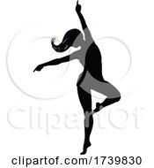 Poster, Art Print Of Dancing Woman Silhouette