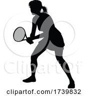 03/14/2021 - Tennis Silhouette Sport Player Woman
