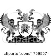 Poster, Art Print Of Crest Lion Griffin Coat Of Arms Griffon Shield
