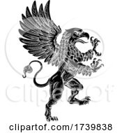 03/14/2021 - Griffin Rampant Griffon Coat Of Arms Crest Mascot