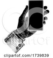 03/14/2021 - Hand Holding Mobile Phone Vintage Style