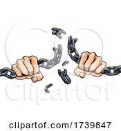 03/14/2021 - Hands Breaking Chain Links Freedom Design