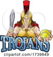 Poster, Art Print Of Spartan Trojan Gladiator Tennis Warrior Woman