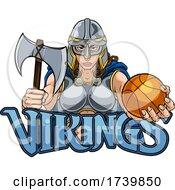 Poster, Art Print Of Viking Celtic Knight Basketball Warrior Woman