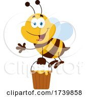 Worker Bee With A Pail Of Honey