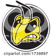 Hornet Or Yellow Jacket Mascot Head