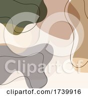 Abstract Background With Earth Tone Shapes