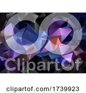 Dark Low Poly Geometric Design Background