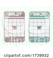 New Easter Bingo Card Blank And Decorated
