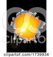 Poster, Art Print Of Sunlight Coming Out From Ripped Black Background