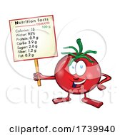 03/17/2021 - Tomato Cartoon With Nutritional Values On Signboard