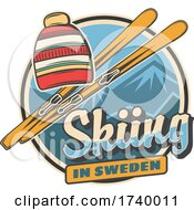 Swedish Skiing Design by Vector Tradition SM